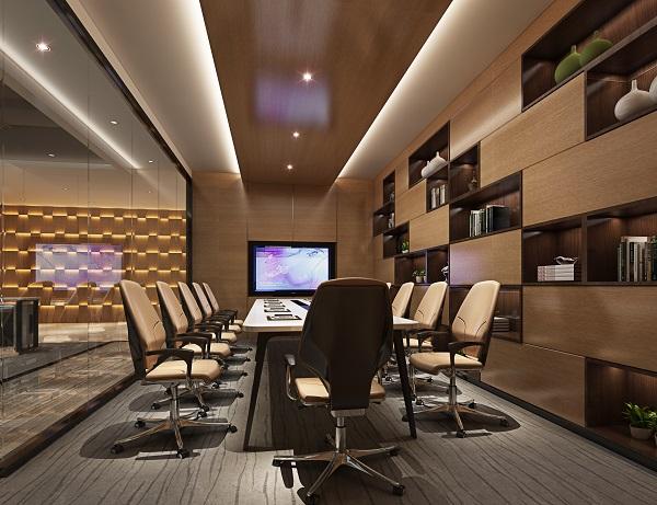 公司办公室装修设计效果图,企业